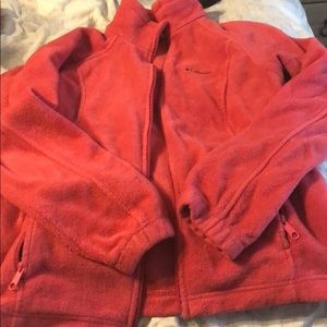 Pink Columbia fleece zipup